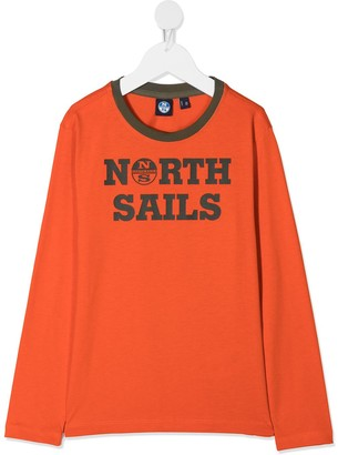 North Sails Kids logo print T-shirt