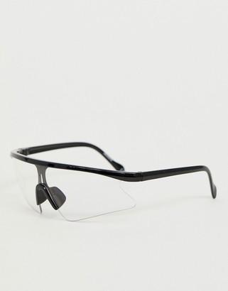 clear ASOS DESIGN lens visor sunglasses
