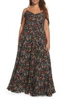 Glamorous Plus Size Women's Ruffle Print Off The Shoulder Maxi Dress