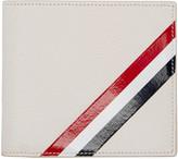 Thom Browne Off-white Diagonal Stripe Wallet