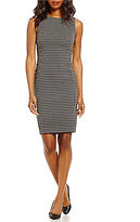 Calvin Klein Stretch Jacquard Plaid Sheath Dress