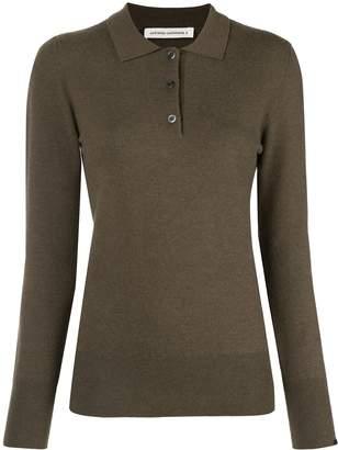 Extreme Cashmere button polo jumper