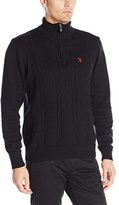 U.S. Polo Assn. Men's Quarter-Zip Cable-Knit Sweater