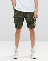Pull&bear Cargo Shorts In Camo Print