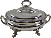 One Kings Lane Vintage Oval Silver-Plate Soup Tureen, C.1850