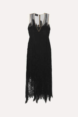 Akris Embroidered Tulle Gown - Black