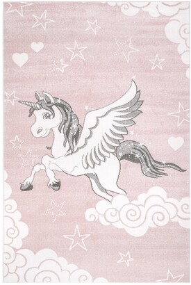 nuLoom Emmie Flying Unicorn Nursery Rug