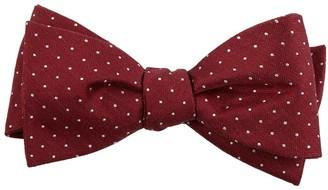 The Tie Bar Rivington Dots Burgundy Bow Tie