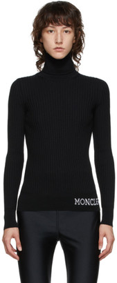 Moncler Black Ribbed Turtleneck