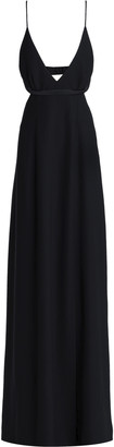 Alexander Wang Satin-trimmed Cutout Crepe Gown
