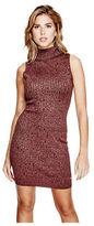 GUESS Women's Marilyn Funnel-Neck Sweater Dress