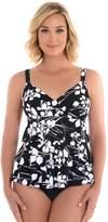 Croft & Barrow Women's Hip Minimizer Tiered D-Cup Swimsuit