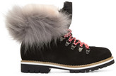 Mr & Mrs Italy Black Suede & Fur Boots