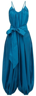 Kalita Balloon Scoop-neckline Silk Jumpsuit - Womens - Green
