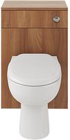 Eliana Ferne Walnut Effect WC Unit and Toilet