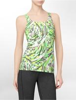 Calvin Klein Basket Weave Kaleidoscope Print Tank Top