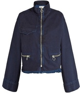 Marques Almeida MARQUES'ALMEIDA Frayed-hem bell-sleeved denim jacket