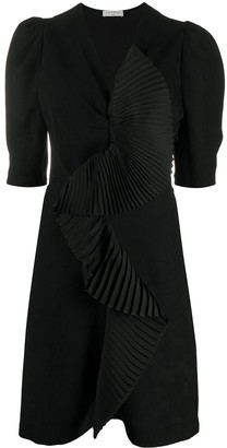 Sandro Pleated Panel Mini Dress