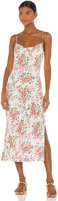 1 STATE Porcelain Floral Midi Slip Dress
