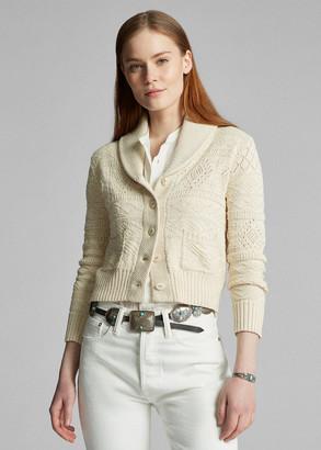 Ralph Lauren Cropped Cotton-Silk Cardigan
