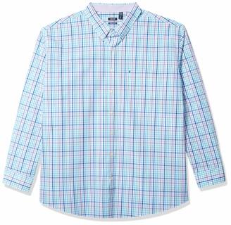 Izod Men's Big & Tall Big and Tall Button Down Long Sleeve Stretch Performance Gingham Shirt