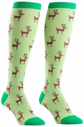 Sock It To Me Women's Knee High Socks - Reindeer Games