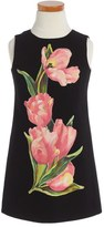 Dolce & Gabbana Tulip Print Sleeveless Dress (Toddler Girls, Little Girls & Big Girls)