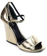 Roberto Cavalli Womens Gold Ankle Strap Sandals.