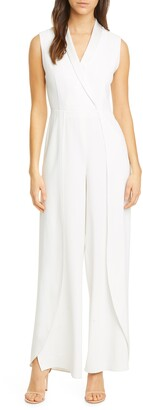 Alice + Olivia Bebe Shawl Collar Jumpsuit