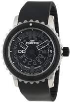 Fortis Men's 675.10.81 K B-47 Big Black Automatic Rotating Bezel Rubber Watch