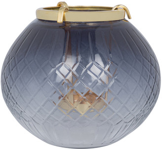 Global Explorer - Black Cut Glass Hanging Tealight Holder - Small