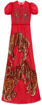Gucci Tiger embroidered tulle gown