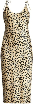 Mestiza New York Aurora Christina Leopard-Print Satin Slip Dress