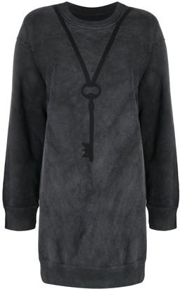 MM6 MAISON MARGIELA Long Key-Print Sweatshirt