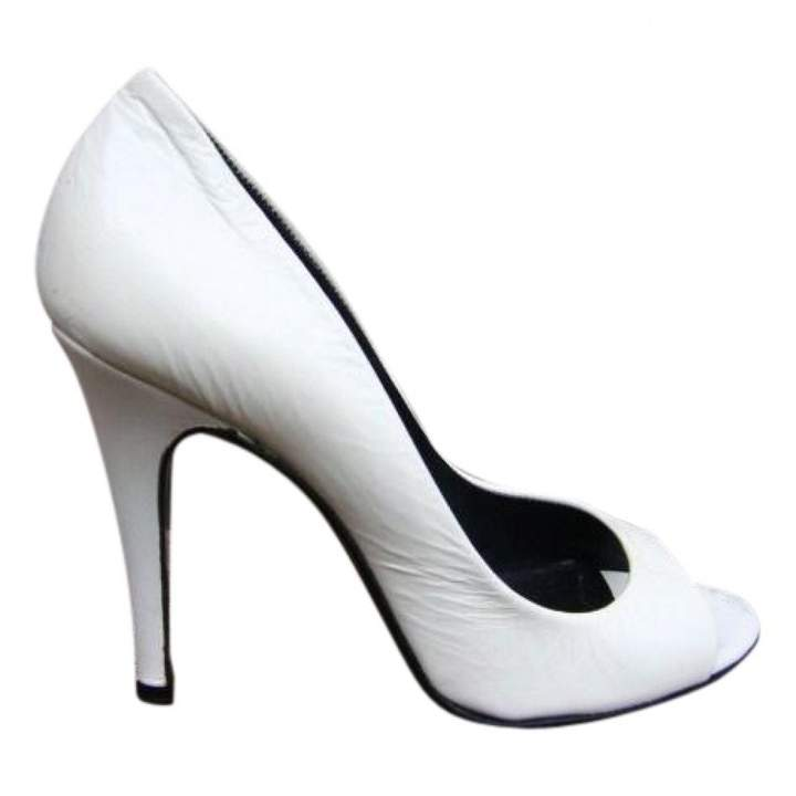 Pierre Hardy White Leather Heels