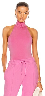 JONATHAN SIMKHAI STANDARD Torrance Halter Bodysuit in Pink
