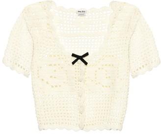 Miu Miu Crochet cashmere cardigan