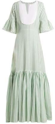 Wiggy Kit - Medina Cotton Maxi Dress - Womens - Green Stripe