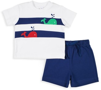 Florence Eiseman Baby's & Little Boy's 2-Piece Whale Shirt & Shorts Set
