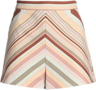 Valentino Printed Wool-blend Shorts