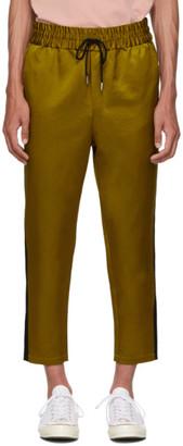 Ami Alexandre Mattiussi Yellow Elastic Waist Band Trousers