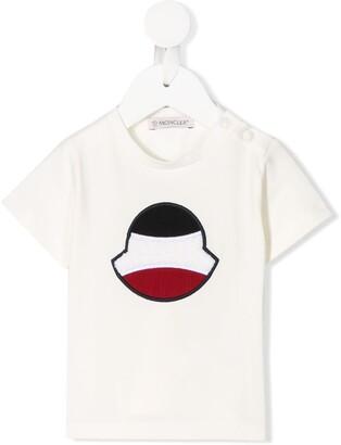 Moncler Enfant embroidered logo T-shirt