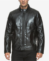 Andrew Marc Men's Sedgwick Faux Leather Moto Jacket