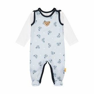Steiff Baby Boys' Mit Suer teddybarapplikation Set Romper T-Shirt Long Sleeve