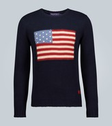 Ralph Lauren Purple Label Flag long-sleeved sweater
