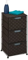 Honey-Can-Do OFC-03714 Double Woven 3-Drawer Storage Organizer Chest, Espresso Brown, 12.01L x 12.01W x 24.02H