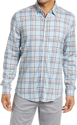 Stone Rose Plaid Performance Button-Up Shirt