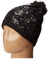 Betsey Johnson Sequins Shine Beanie