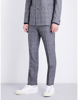 Tiger of Sweden Checked slim-fit wool trousers