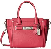 Coach Women's Pebbled Leather Swagger 21 LI/ Satchel